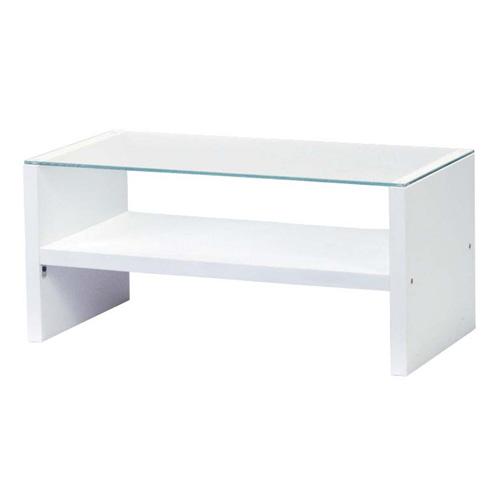 センターテーブル ホワイト HAB-621WH『代引不可』『返品不可』『送料無料(一部地域除く)』