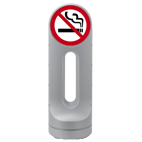 リッチェル スタンドサイン125R 面板「禁煙」シルバー 【代引不可】【送料無料(一部地域除く)】