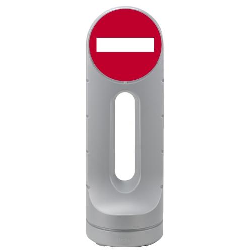 リッチェル スタンドサイン125R 面板「進入禁止」シルバー 【代引不可】【送料無料(一部地域除く)】