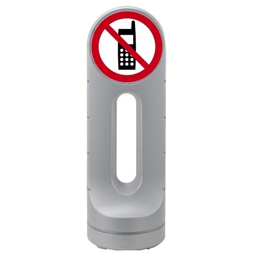 リッチェル スタンドサイン125R 面板「携帯禁止」シルバー 【代引不可】【送料無料(一部地域除く)】