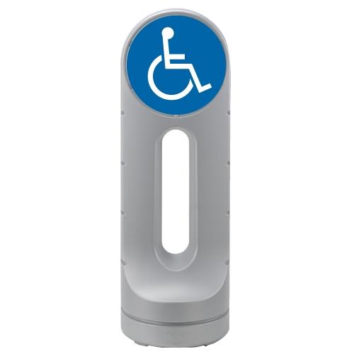 リッチェル スタンドサイン125R 面板「身障者用設備」シルバー 【代引不可】【送料無料(一部地域除く)】