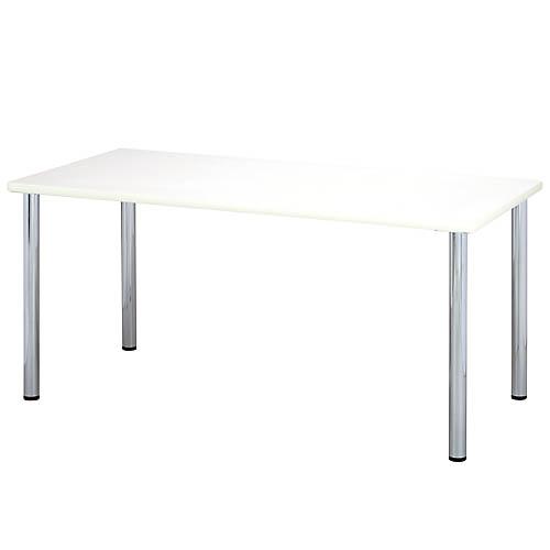 ミーティングテーブル W1800×D600mm アイボリー 【代引不可】【送料無料(一部地域除く)】