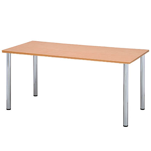 ミーティングテーブル W1500×D750mm ナチュラル 【代引不可】【送料無料(一部地域除く)】