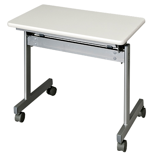 跳ね上げ式会議テーブル KS7545-NW 【代引不可】【送料無料(一部地域除く)】