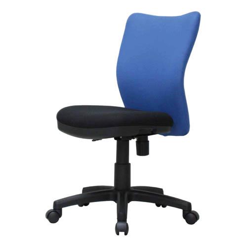 ミドルバックオフィスチェア K-922 ブルー 【代引不可】【送料無料(一部地域除く)】