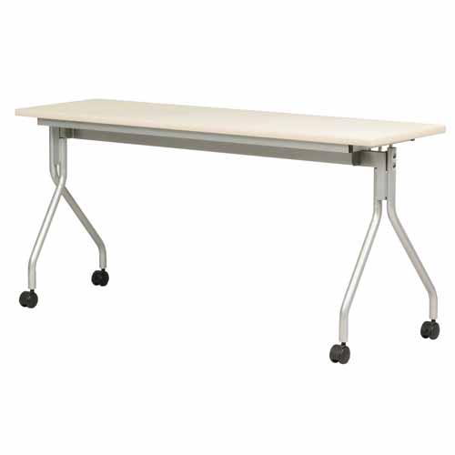 跳ね上げ会議テーブル AHM-1545 幅1500mm×奥行450mm 【代引不可】【送料無料(一部地域除く)】