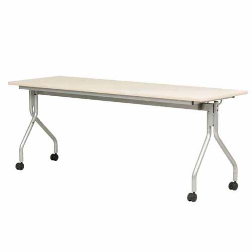 跳ね上げ会議テーブル AHM-1860 幅1800mm×奥行600mm 【代引不可】【送料無料(一部地域除く)】