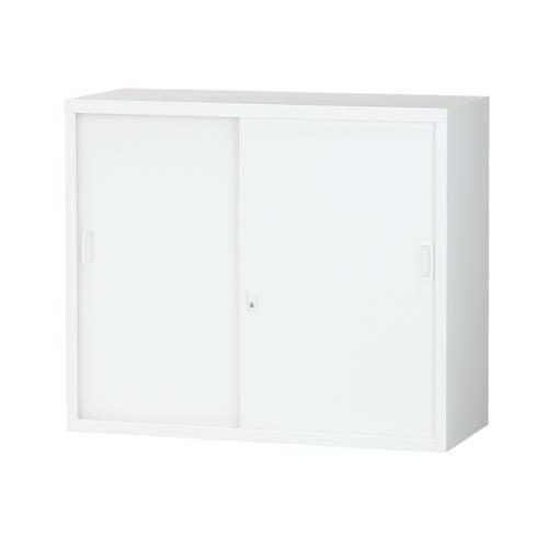 スチール書庫 引戸書庫 A4対応 ホワイト H750mm ALZ-S32[スチール 上下兼用 生興 書庫 引き戸 A4 日本製 完成品]【代引不可】【送料無料(一部地域除く)】