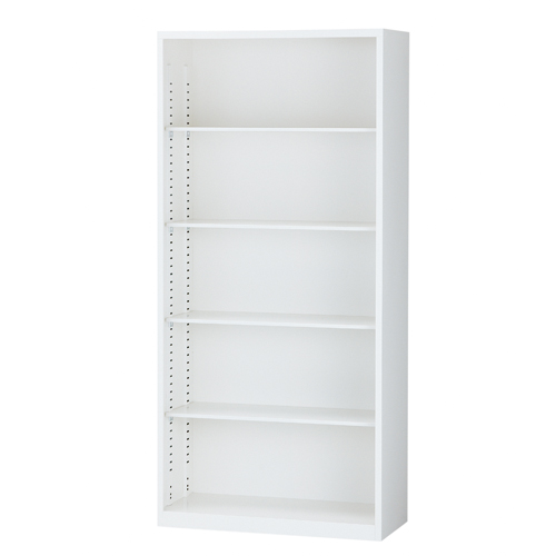 『お買得』スチール書庫 オープン書庫 A4対応 ホワイト H1860mm ALZ-K36 [ スチール 生興 書庫 A4 日本製 完成品 ]『代引不可』『返品不可』『送料無料(一部地域除く)』