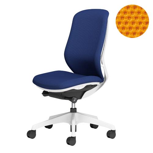 オカムラ オフィスチェア Sylphy シルフィー 肘なし 背クッションタイプ ハイバック ホワイトボディ 樹脂脚 オレンジ C637XW-FSG8【代引不可】【送料無料(一部地域除く)】