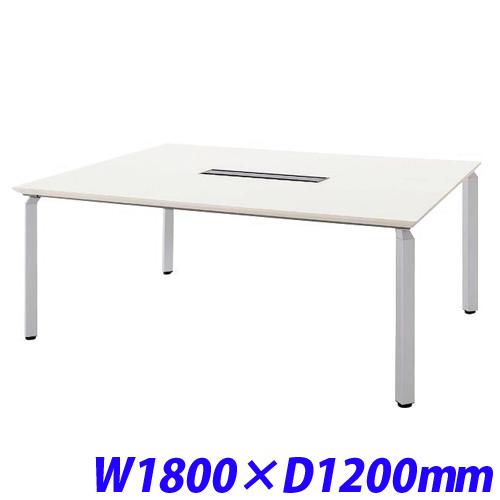 【現品限り一斉値下げ!】 ミーティングテーブル W1800×D1200 配線ボックス付/ホワイト WK18125H-SVH【】【送料無料(一部地域除く)】, いわぶん 4cc34508