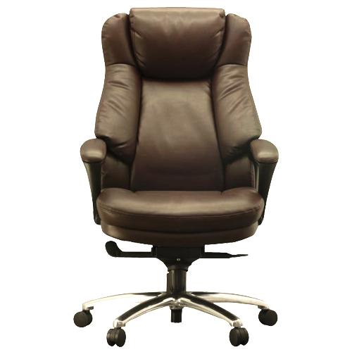 ワーキングチェア スリンキー ECOレザー ブラウン 108699 インテリア 家具 オフィス家具 【代引不可】【送料無料(一部地域除く)】