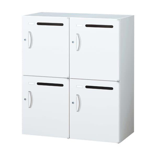 生興 クウォール システム収納庫 メールボックス(パーソナル収納) W900×D450×H1050 RW45-410P『代引不可』『送料無料(一部地域除く)』