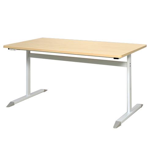 RFCTB-1480NA-NC T字脚コンセント付きテーブル W1400×D800 ナチュラル 【代引不可】【送料無料(一部地域除く)】