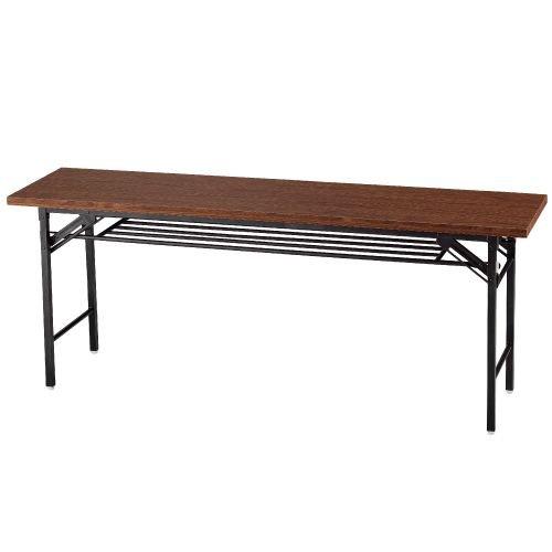 GRATES 会議テーブル 会議用テーブル 折りたたみ 180×45cm ハイタイプ オリジナル ブラウン【送料無料(一部地域除く)】
