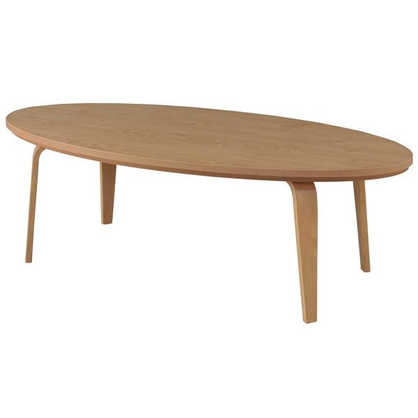 東谷 こたつテーブル オーバル W120×D60×H38cm ナチュラル KT-114NA 【代引不可】【送料無料(一部地域除く)】