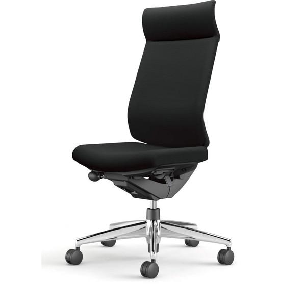 コクヨ(KOKUYO) オフィスチェア Wizard3(ウィザード3) ミドルマネージメント ブラックシェル アルミ脚 布張 肘なし ブラック CR-A3624F6G4B6-W 【代引不可】【送料無料(一部地域除く)】