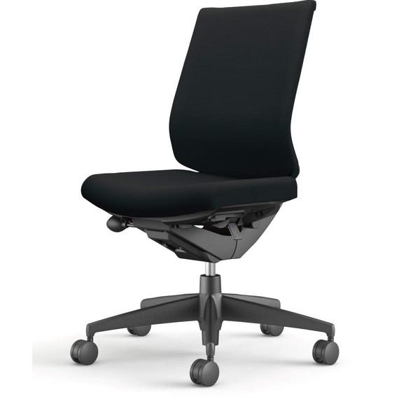 コクヨ(KOKUYO) オフィスチェア Wizard3(ウィザード3) ローバック ブラックシェル 樹脂脚(ブラック) 布張 肘なし ブラック CR-G3620F6G4B6-W 【代引不可】【送料無料(一部地域除く)】