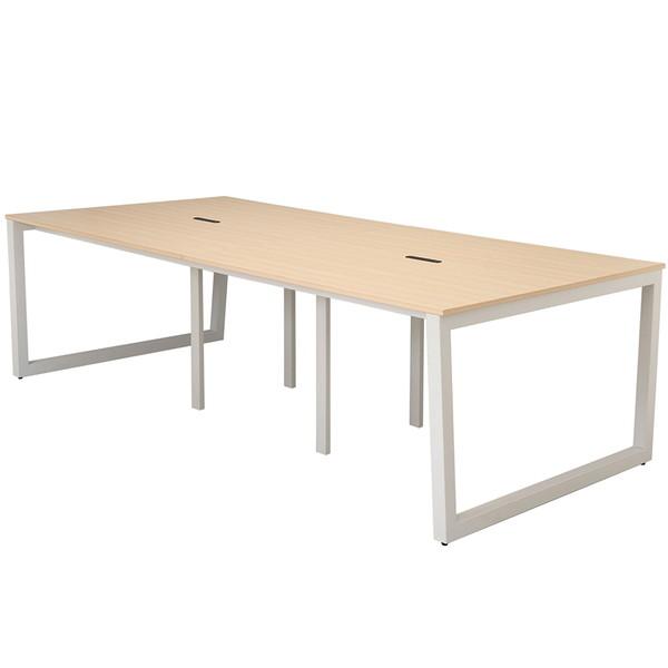 R・Fヤマカワ リスム フリーアドレス用テーブル W2400×D1200×H720mm ナチュラル×ホワイト脚 RFFLT-2412NA-WL 【代引不可】【送料無料(一部地域除く)】