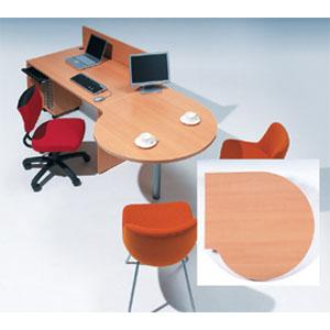 Garage 受付カウンター ローカウンター用連結テーブル fantoni GF-100ST木目 【代引不可】【送料無料(一部地域除く)】