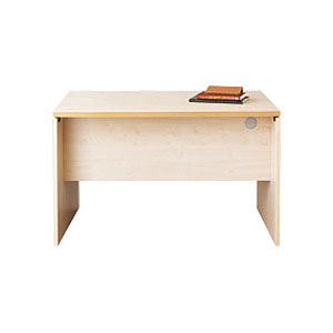 Garage パソコンデスク fantoni テーブル 幅120cm 奥行き80cm GL-128D 白木 【代引不可】【送料無料(一部地域除く)】