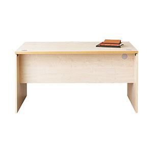 Garage パソコンデスク fantoni テーブル 幅140cm 奥行き70cm GL-147D 白木 【代引不可】【送料無料(一部地域除く)】