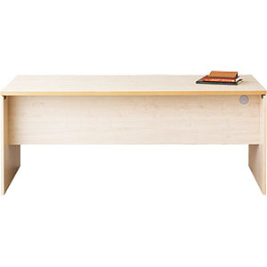 Garage パソコンデスク fantoni テーブル 幅180cm 奥行き80cm GL-188D 白木 【代引不可】【送料無料(一部地域除く)】