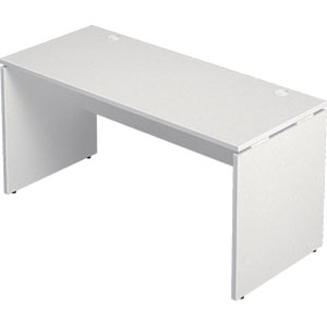 Garage 木製パソコンデスク AFデスク 幅140cm 奥行き60cm AF-146H 白 ホワイト 【代引不可】【送料無料(一部地域除く)】