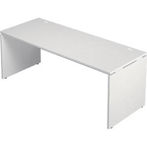 Garage 木製パソコンデスク AFデスク 幅180cm 奥行き70cm AF-187H 白 ホワイト 【代引不可】【送料無料(一部地域除く)】