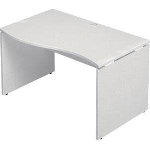Garage 木製パソコンデスク AFデスク 波型 幅120cm 奥行き76cm AF-127NH-L 【代引不可】【送料無料(一部地域除く)】