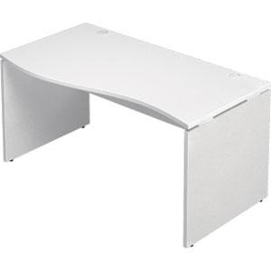 Garage 木製パソコンデスク AFデスク 波型 幅140cm 奥行き70cm AF-147NH-L 【代引不可】【送料無料(一部地域除く)】