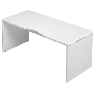Garage 木製パソコンデスク AFデスク 幅160cm 奥行き70cm AF-167MH 白 ホワイト 【代引不可】【送料無料(一部地域除く)】