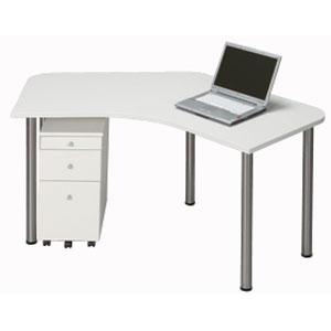 Garage パソコンデスク オフィスデスク シンプルL字型 D2 D2-A-ST 白 ホワイト 【代引不可】【送料無料(一部地域除く)】