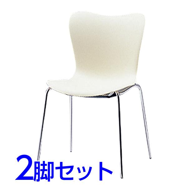 サンケイ ミーティングチェア 会議椅子 4本脚 クロームメッキ 肘なし パッドなし 同色2脚セット CM510-CS 【代引不可】【送料無料(一部地域除く)】