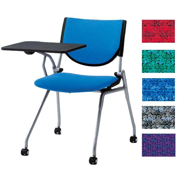 オカムラ ミーティングチェア プロスタック ネスティングタイプ 大型テーブル付 背パッドタイプ 8140FT【代引不可】【送料無料(一部地域除く)】