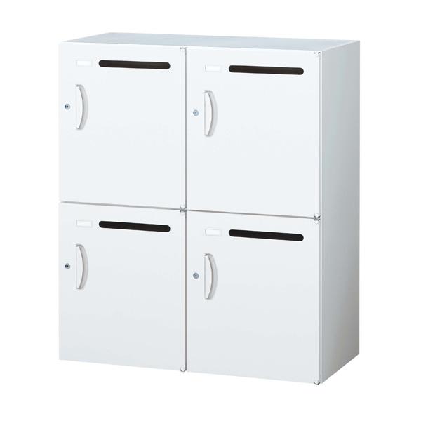 生興 クウォール システム収納庫 メールボックス(パーソナル収納) W900×D450×H1050 RW45-410P【代引不可】【送料無料(一部地域除く)】