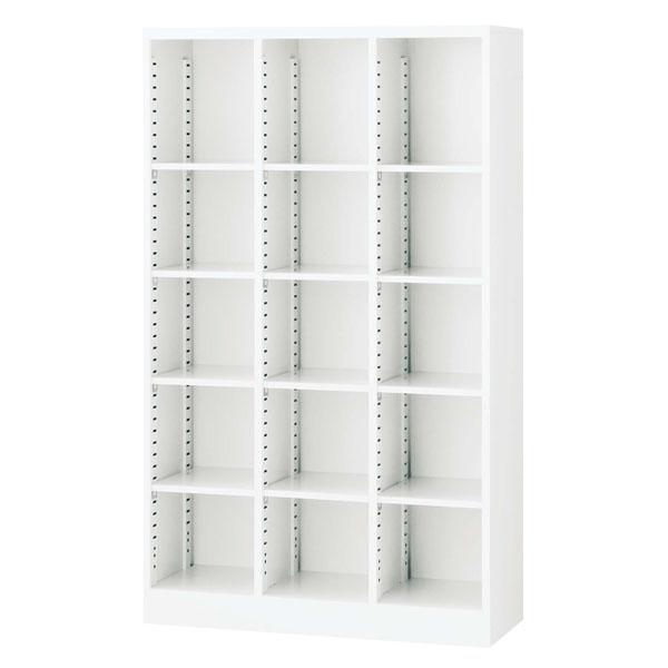 生興 3列オープン書庫(D350・ホワイト) W900×D350×H1500 SBKW-15【代引不可】【送料無料(一部地域除く)】