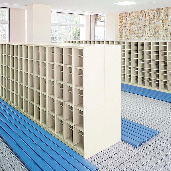 生興 オープンシューズボックス(D350) ニューグレー色 4列4段16人用(中棚なし) W1000×D350×H1180 SBN-16N【代引不可】【送料無料(一部地域除く)】