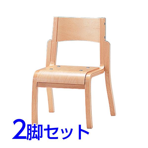 サンケイ 木製椅子 教育用椅子 4本脚 ウレタン塗装 肘なし パッドなし 同色2脚セット CM401-WN【代引不可】【送料無料(一部地域除く)】
