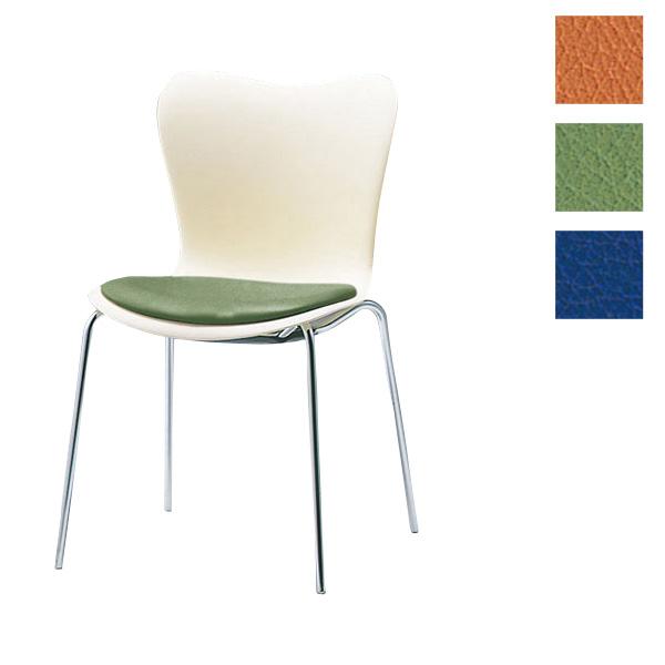 サンケイ ミーティングチェア 会議椅子 4本脚 クロームメッキ 肘なし ポリウレタンレザー張り CM510-CX【代引不可】【送料無料(一部地域除く)】