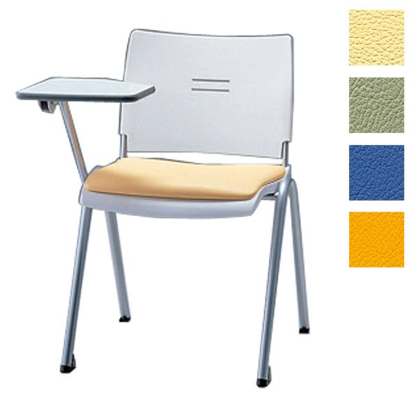サンケイ ミーティングチェア 会議椅子 4本脚 粉体塗装 肘なし メモ板付 ビニールレザー張り CM710-MXM【代引不可】【送料無料(一部地域除く)】