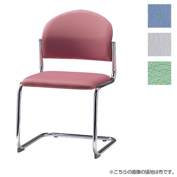 サンケイ ミーティングチェア 会議椅子 キャンチレバー脚 クロームメッキ 肘なし ビニールレザー張り CM214-CX【代引不可】【送料無料(一部地域除く)】