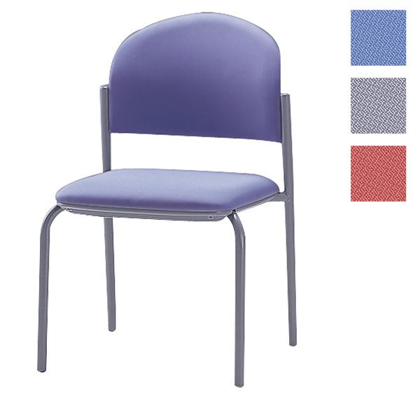 サンケイ ミーティングチェア 会議椅子 4本脚 粉体塗装 肘なし 布張り CM210-MY【代引不可】【送料無料(一部地域除く)】