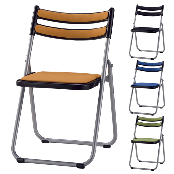 サンケイ 折りたたみ椅子 パイプイス アルミ脚 粉体塗装 背座ペット再生布張り CF72-MY【代引不可】【送料無料(一部地域除く)】