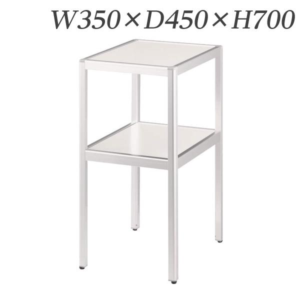 ライオン事務器 コーナーテーブル W350×D450×H700mm ホワイト CT-350W 638-68【代引不可】【送料無料(一部地域除く)】