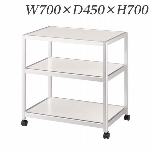 ライオン事務器 コーナーワゴン W700×D450×H700mm ホワイト CW-700W 638-92【代引不可】【送料無料(一部地域除く)】