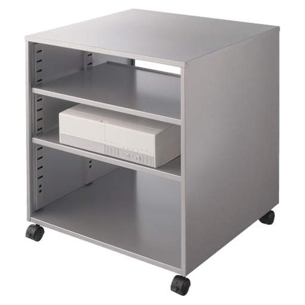 ライオン事務器 CPUワゴン(横型) カロティア W572×D542×H620mm シルバーメタリック CO-CPU1 400-53【代引不可】【送料無料(一部地域除く)】