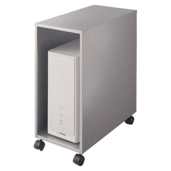 ライオン事務器 CPUワゴン(縦型) カロティア W280×D542×H620mm シルバーメタリック CO-CPU2 400-54【代引不可】【送料無料(一部地域除く)】