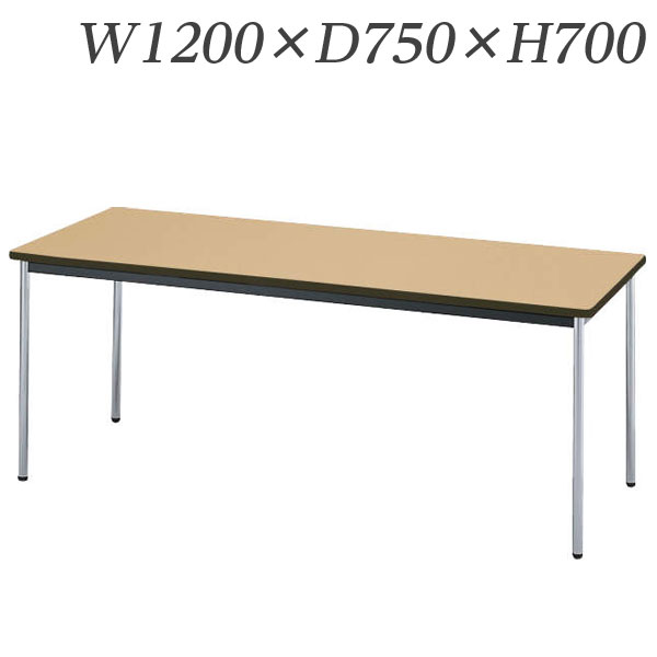 ライオン事務器 ミーティング用テーブル RTタイプ クロームメッキ脚 W1200×D750×H700mm RT-1275N【代引不可】【送料無料(一部地域除く)】