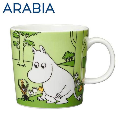 北欧食器 アラビア ARABIA ムーミン ARABIA アラビア Moomin ムーミン マグ ムーミン グラスグリーン 300ml Moomintroll grass-green マグカップ